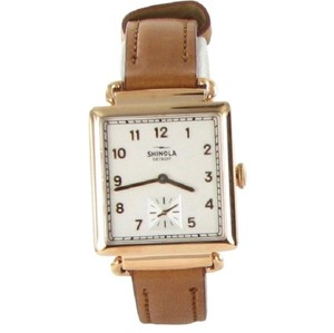 Shinola Silver Dial Gold Tone The Cass 28mm ladies