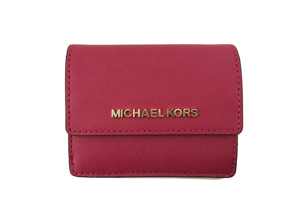 75224d3c80239a Michael Kors Michael Kors Jet Travel Credit Card Case ID Wallet with Key  Ring Image 0 ...