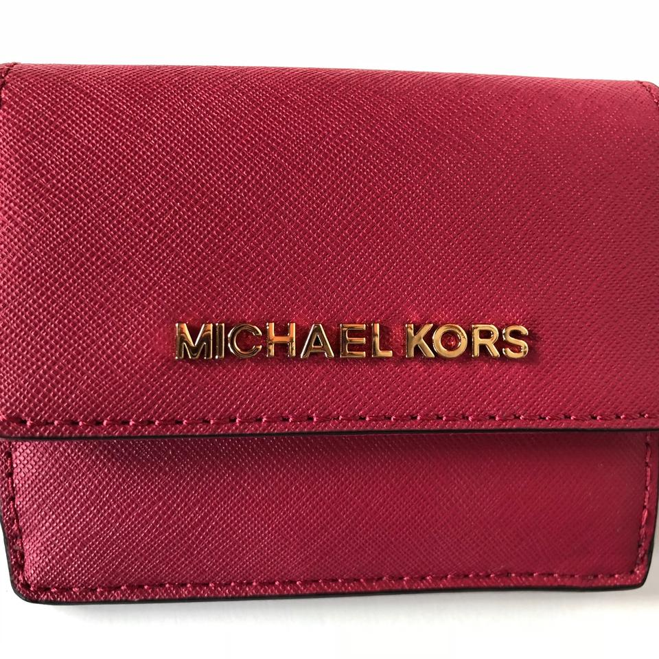 2bec34490f78aa Michael Kors Michael Kors Jet Travel Credit Card Case ID Wallet with Key  Ring Image 7. 12345678