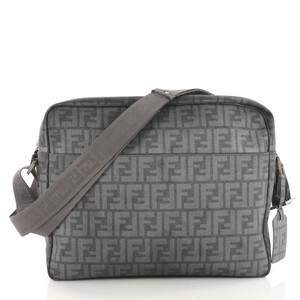 Fendi Canvas grey Messenger Bag
