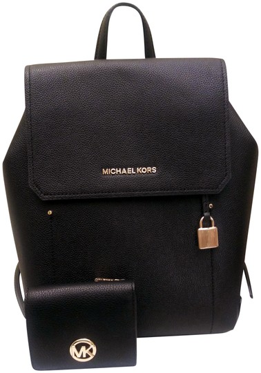 c33bd6a044a9 Michael Kors Carryall Fulton Hayes and Card Case Set I Black Leather ...