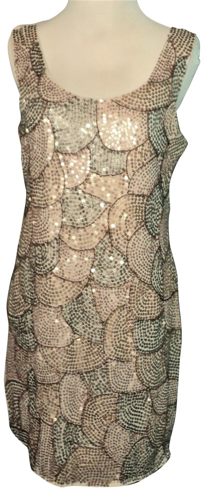 8c60e953 Romeo & Juliet Couture Beige Combo *nwt* Sequin Dress-small Cocktail Dress