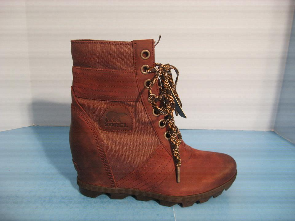 856a63f9959 Sorel Burgundy Women s Lexie Waterproof Suede Wedge Ankle Boots ...