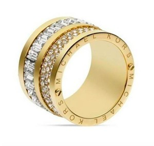 Michael Kors NWT Michael Kors Multi-Stone Gold Tone Barrel Ring - Size 8, LAST ONE!