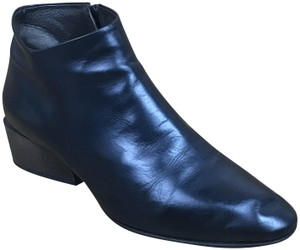 Coclico Leather Zip Dark Navy Blue Boots