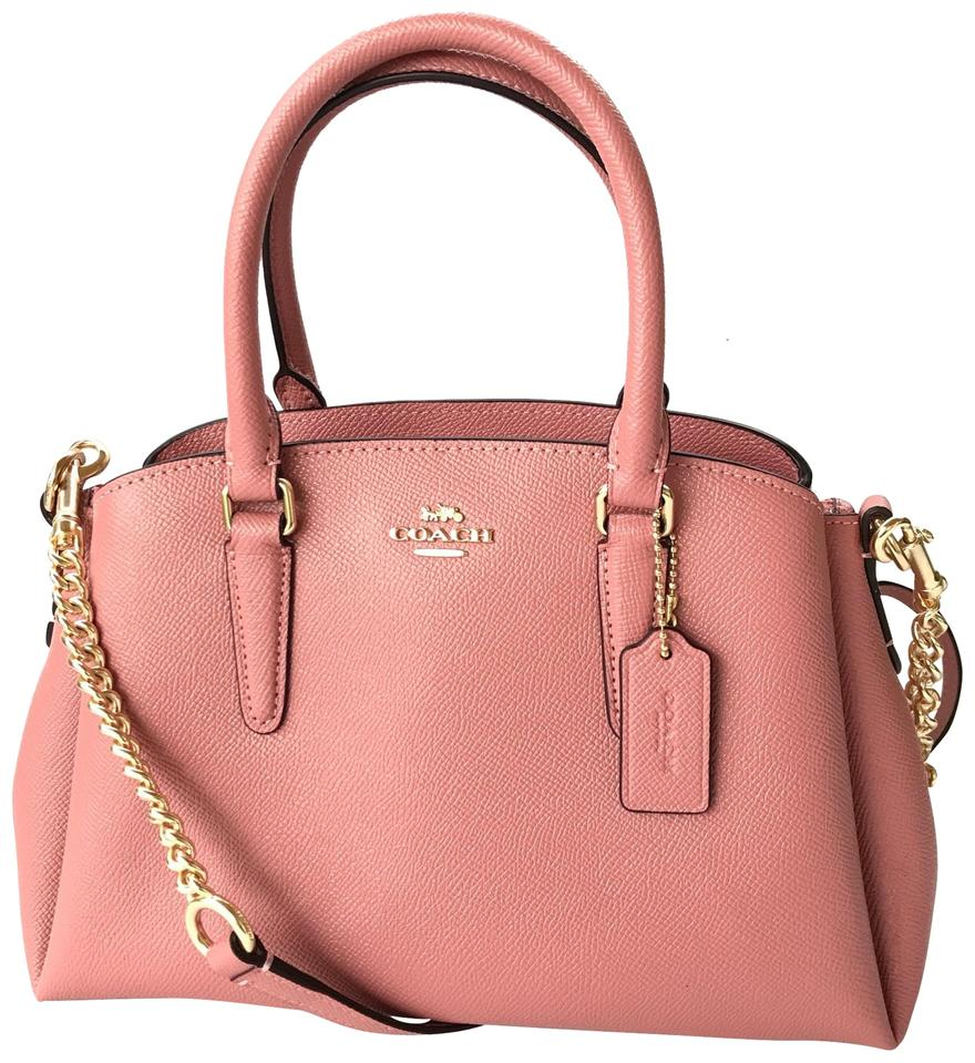 Coach Mini Sage Carryall F28977 Vintage Pink Leather Satchel - Tradesy 97e55293f8