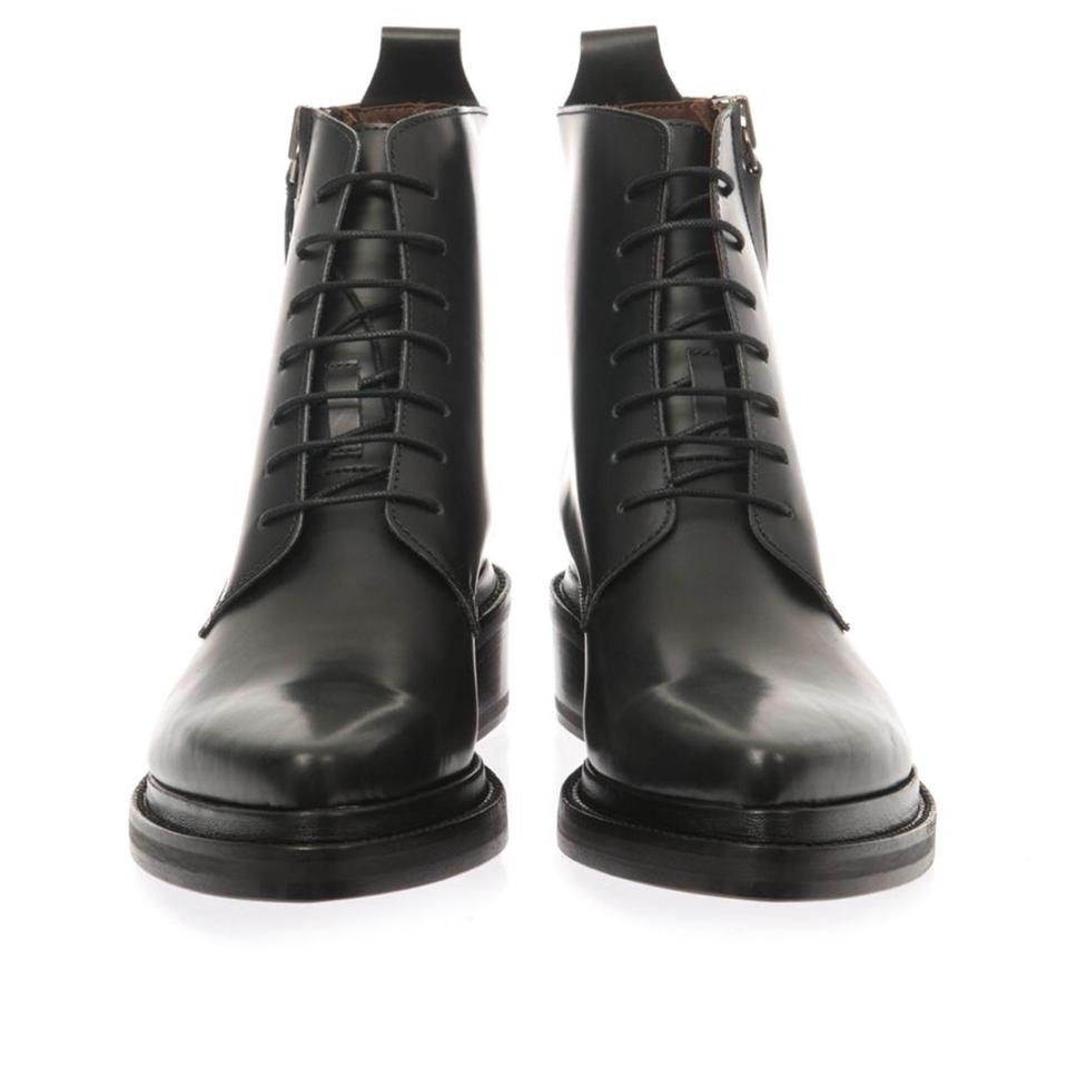 87dd23307f9 Acne Studios Black Linden Lace Up Pointy Combat Ankle Low Heel  Boots/Booties Size EU 37 (Approx. US 7) Regular (M, B)