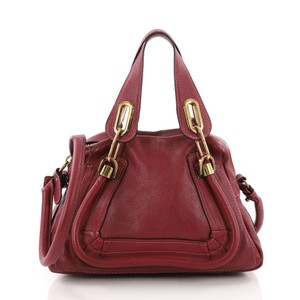 Chloé Top Handle Tote in magenta