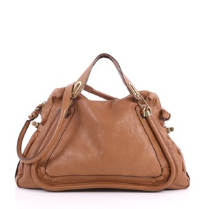 Chloé Top Handle Tote In Brown