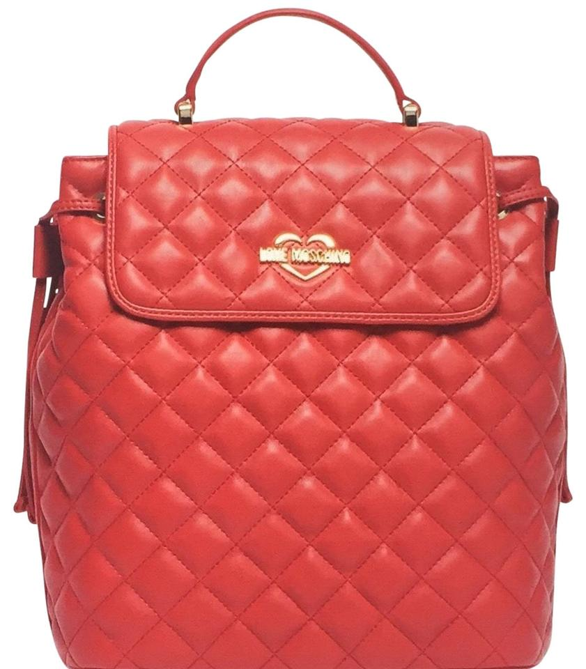 1e4cf9dba32 Moschino Quilted Leather Backpack - Tradesy