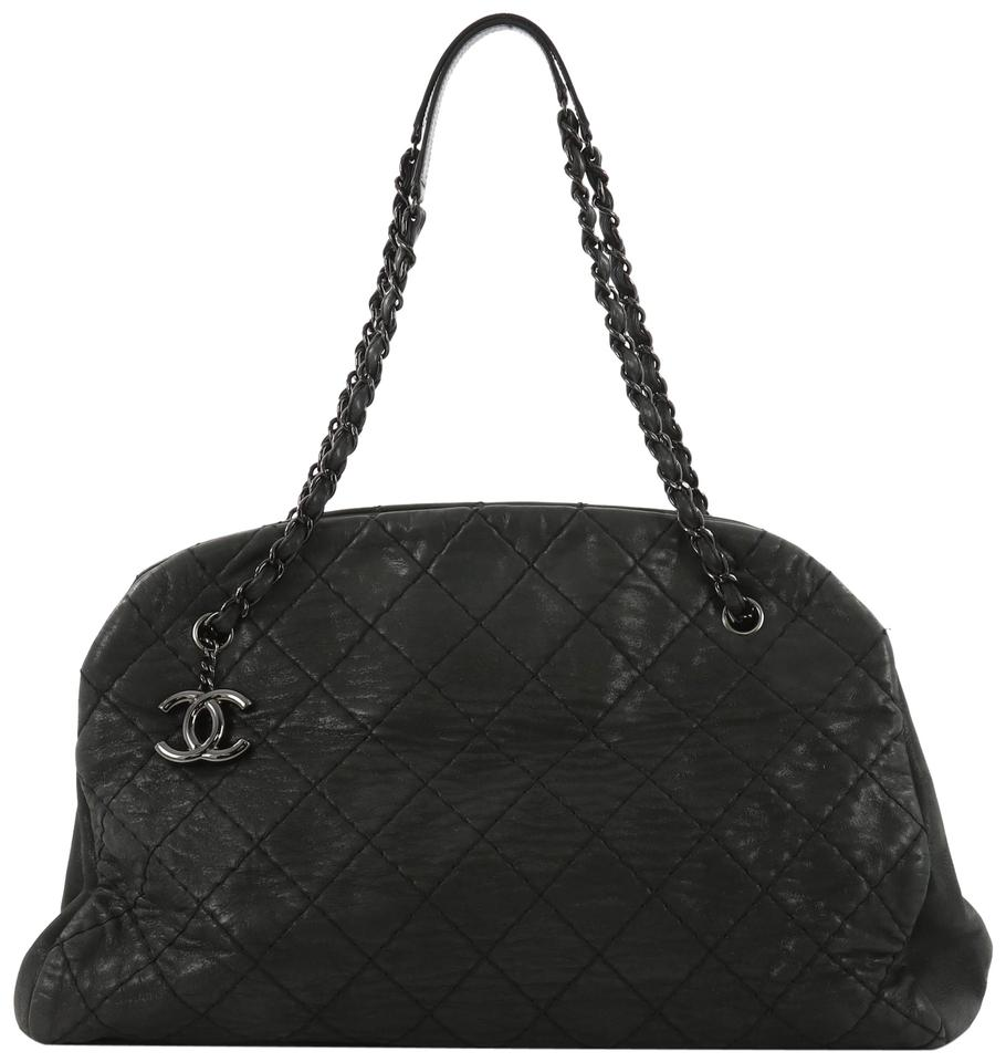 Chanel Handbag Tote In Dark Green