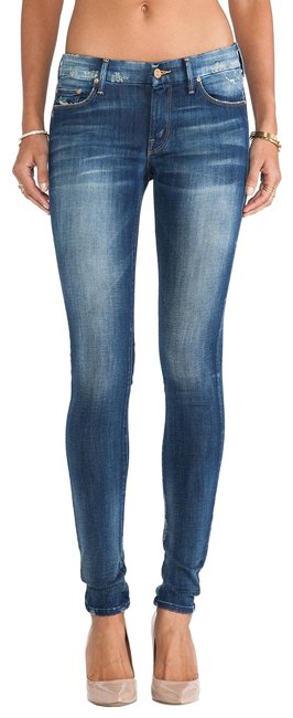Item - Blue Distressed Looker Tequila Truth Skinny Jeans Size 26 (2, XS)