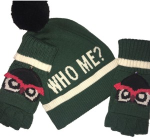Kate Spade HAT AND GLOVES me? owls hat with cut off matching gloves new!