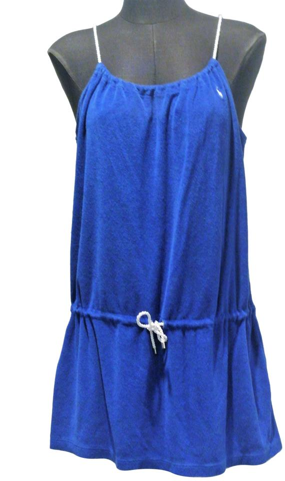 83df720a Polo Ralph Lauren Royal Blue Terry Cloth Dress Cover-up/Sarong Size ...