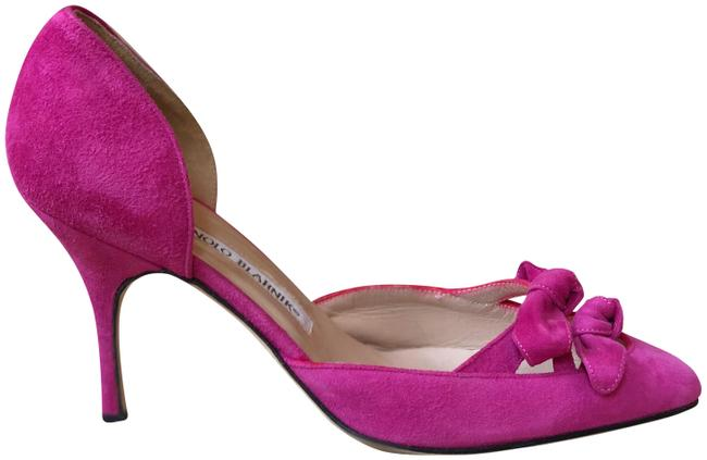 Item - Magenta Suede D'orsay Pumps Size EU 36 (Approx. US 6) Regular (M, B)