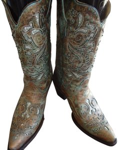 Corral Boots Turquoise and Bronze Boots