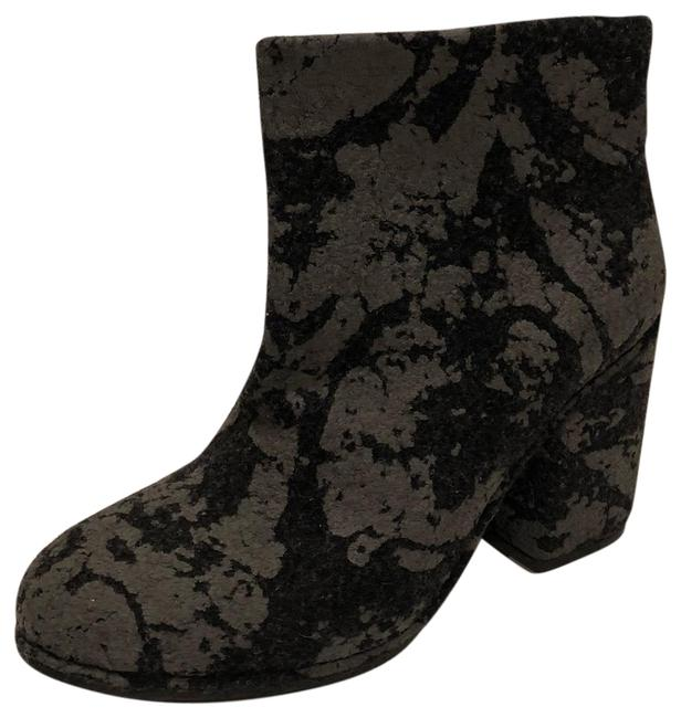 Item - Black Grey New Wool Felt Leather Lined Boots/Booties Size EU 36 (Approx. US 6) Regular (M, B)