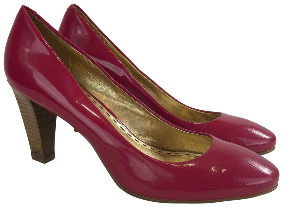 56941b15acd Coach Berry Hot Pink Patent Leather Wooden Heel Pumps Size US 8.5 Regular  (M, B) 58% off retail