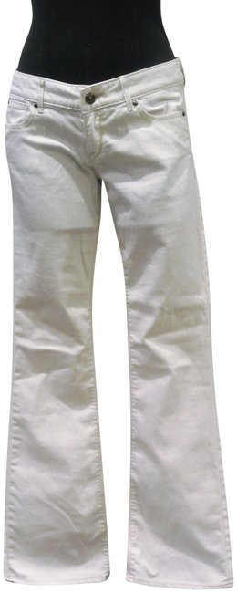 Item - White/Beige Jeans Pants Size 6 (S, 28)