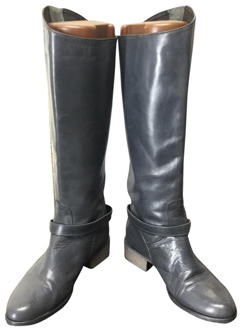 Item - Gray Italy Leather Knee High Boots/Booties Size US 6 Regular (M, B)