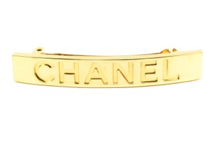 Chanel Metal & Logo Barrette/Clip (mm)