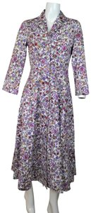 PURPLE Maxi Dress by J. Peterman Floral Vintage Boho Party Bohemian