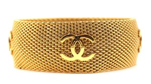 Chanel Mesh Wide Bangle