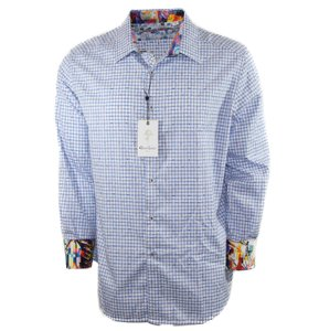 Robert Graham Gucci Shirt Shirt Men's Shirt Shirt Classic Fit Shirt Button Down Shirt Blue