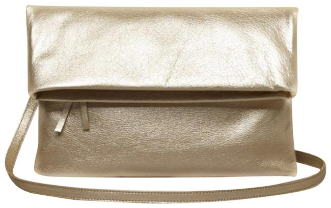 Item - Kendra In Champagne By Gold Beige Leather Cross Body Bag