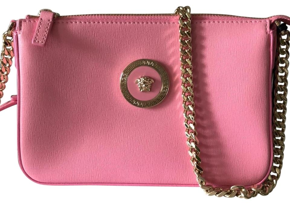 d73dffa0168b Versace Pink Leather Cross Body Bag - Tradesy