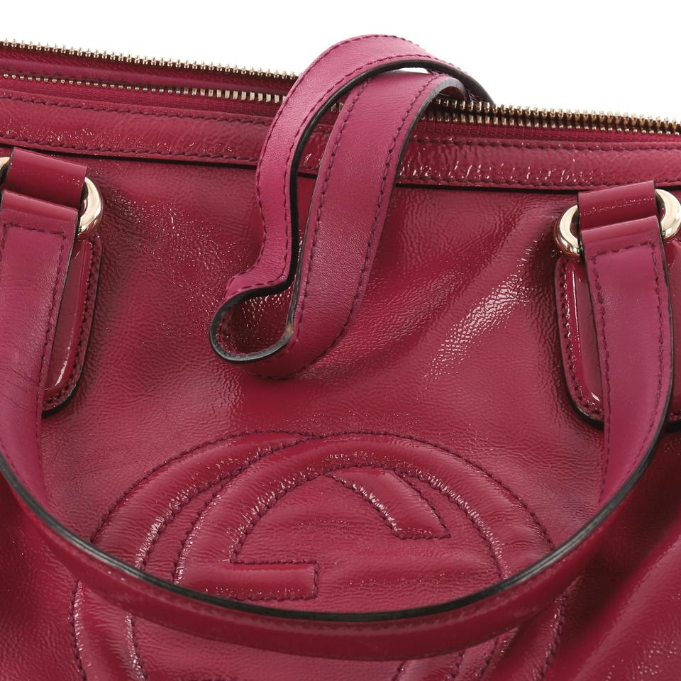 2cab5ff2ac63 Gucci Soho Convertible Soft Top Handle Pink Patent Leather Tote ...