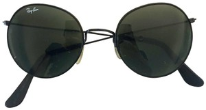 Ray-Ban Round Black Metal Ray Ban Sunglasses RRP $168