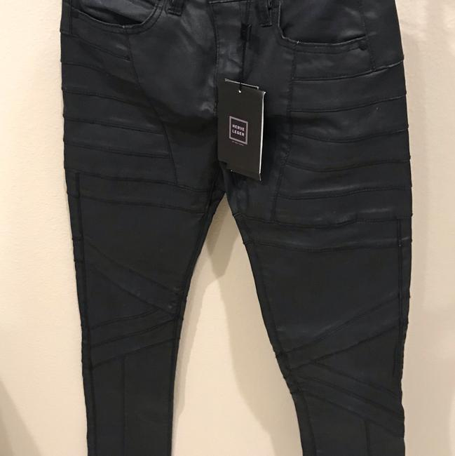 886596bf81f7 Hervé Leger Blue Coated Straight Leg Jeans Size 4 (S