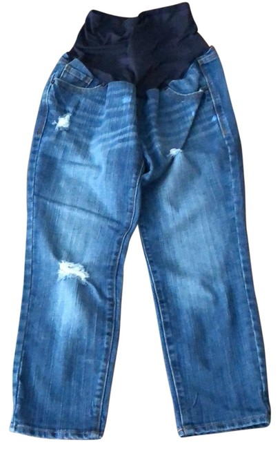 Item - Blue Distressed Maternity Denim Size 4 (S)