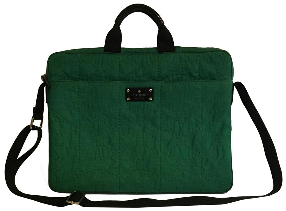 new arrival 8551b 09cb4 Kate Spade Quilted 15 Inch Green Nylon Laptop Bag 66% off retail