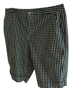 Ralph Lauren Cuffed Shorts BLACK & WHITE CHECK