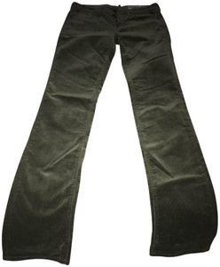 Replay Boot Cut Pants Olive Green