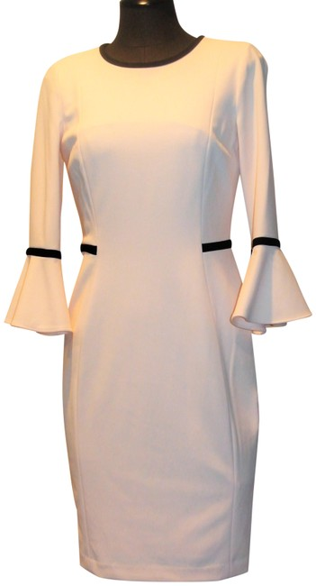 Item - Blush Pink Bell Sleeve Mid-length Work/Office Dress Size 6 (S)