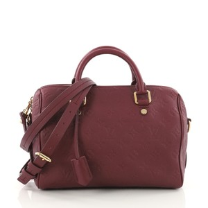 Louis Vuitton Leather Tote in magenta