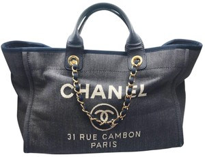 Chanel Blue Tote in Navy, Denim