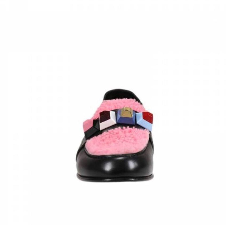 3e42d3c532a Fendi black embellished leather and shearling loafers flats size jpg  960x958 Fendi loafers