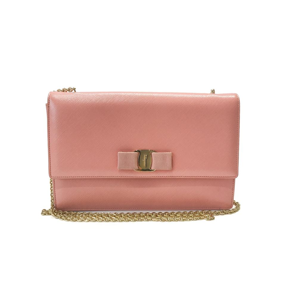 05d94f68c2 Salvatore Ferragamo Ginny Shoulder Pink Leather Cross Body Bag - Tradesy