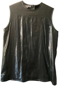 Saks Fifth Avenue Starington Metallic Holiday Office Party Holiday Party Top Silver
