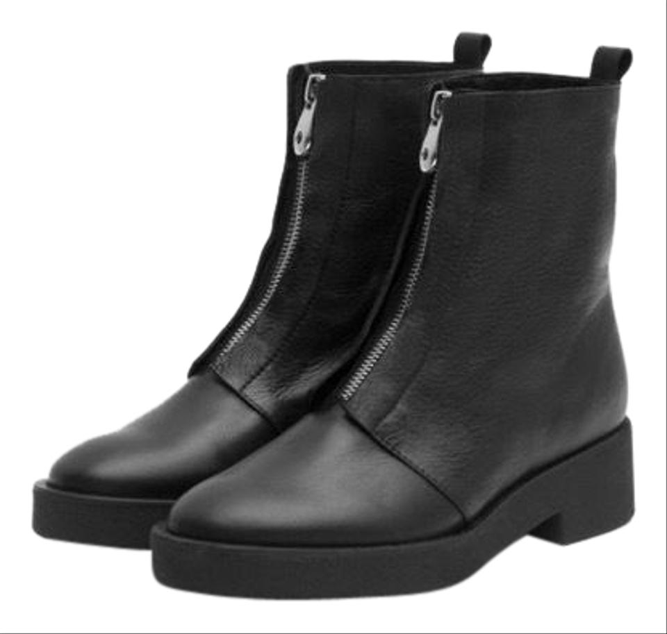 Zara Black Grained Leather Ankle with Front Zipper BootsBooties Size EU 37 (Approx. US 7) Regular (M, B) 38% off retail