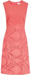 Reiss Lace Red Embroidered Midi Dress