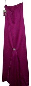 Dessy Fuschia American Beauty Mermaid Satin Brand New Dress