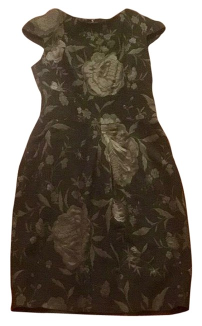 Preload https://img-static.tradesy.com/item/24171034/piazza-sempione-olive-green-with-pewter-embroidered-embellishments-and-mid-length-cocktail-dress-siz-0-1-650-650.jpg