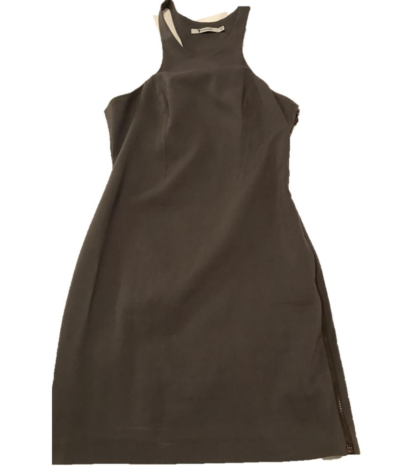 T By Alexander Wang Grey Short Night Out Dress Size 8 M Tradesy