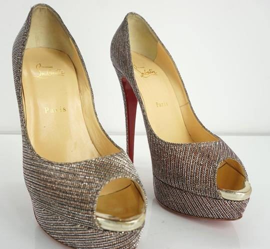 Christian Louboutin Party Formal Beige Pumps Image 3