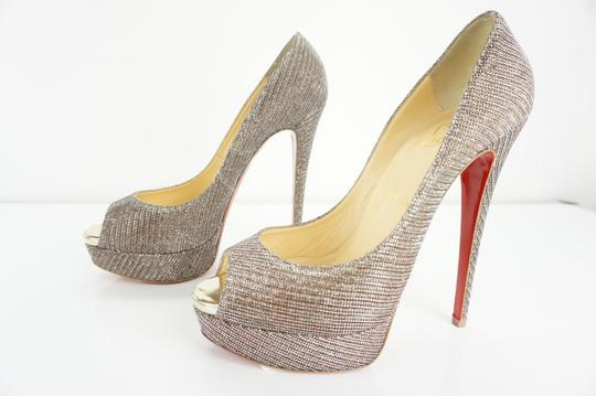 Christian Louboutin Party Formal Beige Pumps Image 6